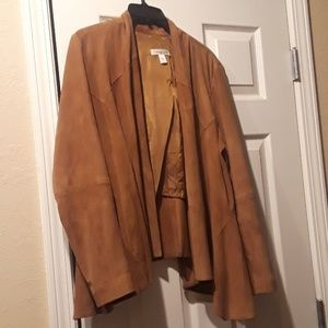 Coldwater Creek Leather Suede Jacket Sz M